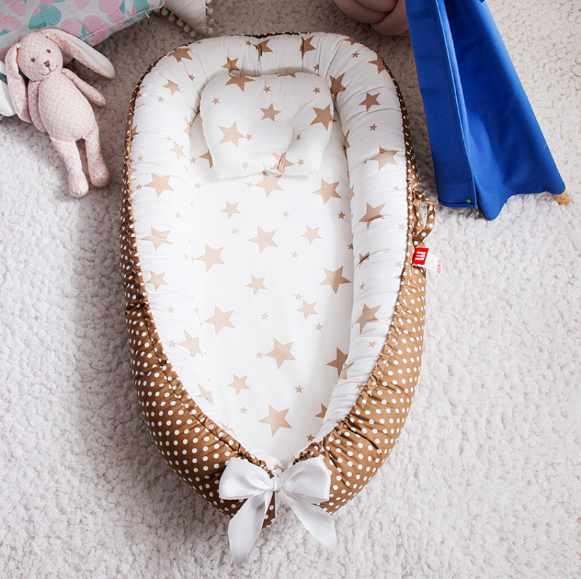 Portable Baby Nest Bed With Pillow Cushion Newborn Travel Bed For Outdoor Bed Infant Crib Nest