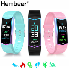 цена на Pink Smart Band Heart Rate Monitor Blood Pressure Waterproof Wearable Bracelet Fitness Tracker Smart Wristband for iOS Android