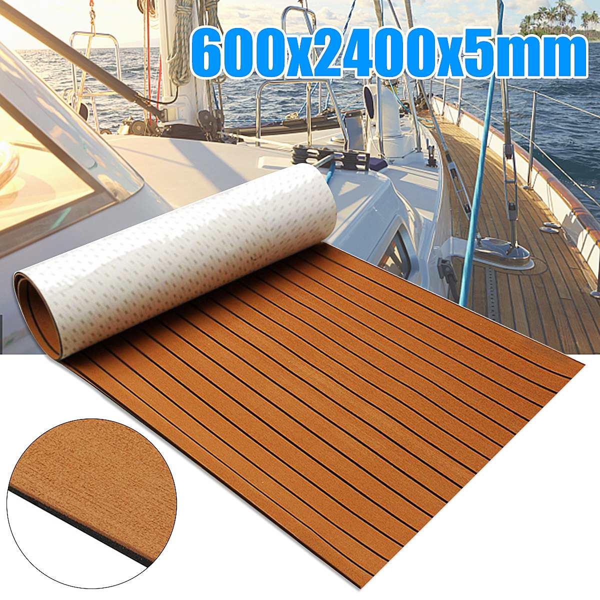 novo auto adesivo 600x2400x5mm marrom preto teca decking espuma eva piso marinho falso barco decking folha