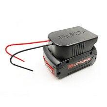 Duurzaam Li Ion Batterij Converter om DIY Kabel Uitgang Aansluiting Adapter voor Makita 18V Voor Bosch 18V Lithium Batterij accessoires