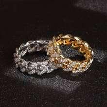 Роскошные мужские и женские кольца Золотое кольцо в стиле хип