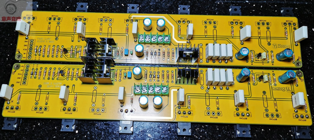 One pair CLONE PASS F5 TURBO Amplifier bare PCB 2 channel