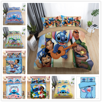2021 thicken single double foldable mattress cute cartoon dorm home tatami mat floor pad student mattresses king queen size Cartoon Lilo and Stitch Bedding Set Single Double Twin Full Queen King Size Cartoon Girls Bed Cover Pillow Cases Room Decor