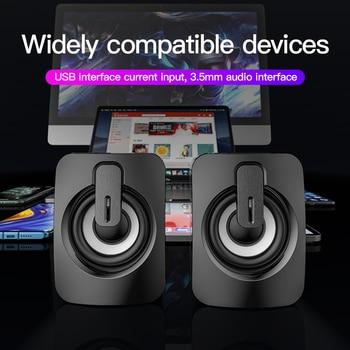 Computer Speakers Stereo Home Cinema Sound Box Subwoofer Loudspeaker for PC Laptop Notebook Soundbar Not Bluetooth Speaker 5