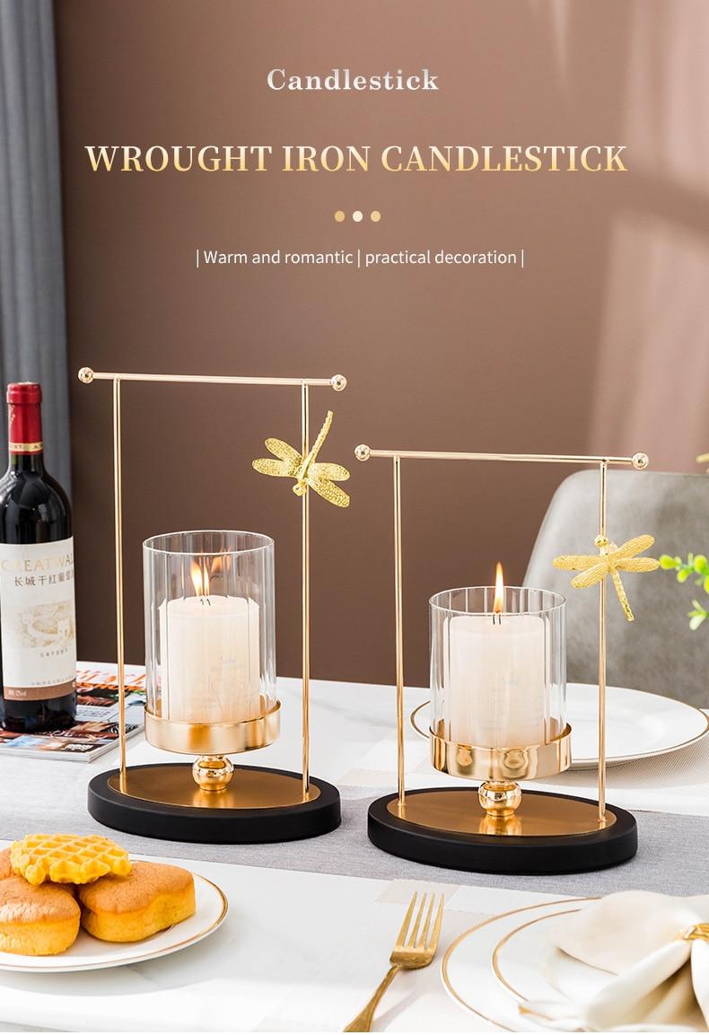moderno casamento centerpieces ouro castiçais de vidro