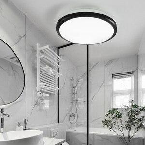 Image 1 - Zerouno 현대 led 천장 조명 방수 욕실 조명 침실 거울 빛 18w 24w 30w 32w 모션 센서 천장 조명