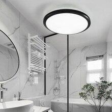 Zerouno luz led de techo moderna para baño, resistente al agua, luz de espejo para dormitorio, 18w, 24w, 30w, 32w, lámpara de techo con sensor de movimiento