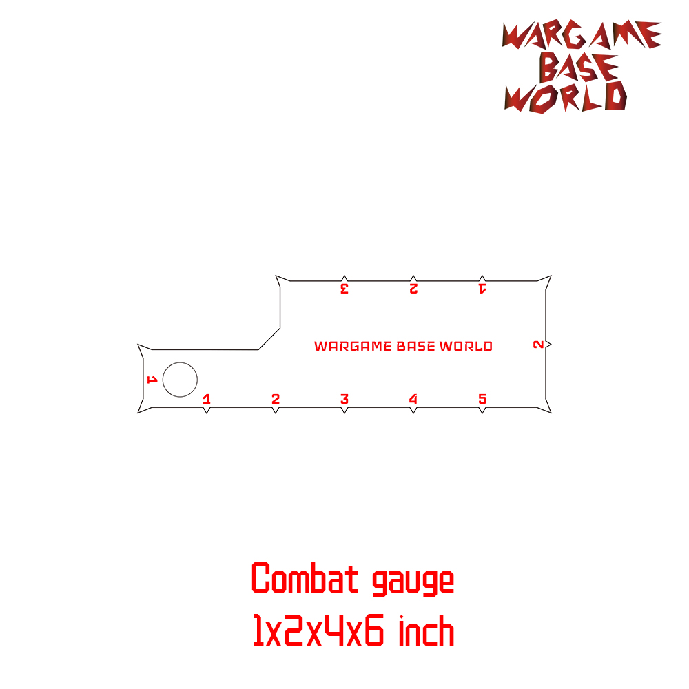 Wargame Base World - Combat Gauge - Measure Tooling - Battle Gauge