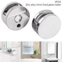 4 pçs braçadeira de vidro do banheiro espelho clipes liga zinco clipe de vidro prateleira suporte suportes ud88