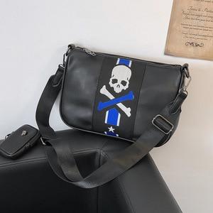Простой деловой мужской портфель, сумка из искусственной кожи, сумка для ноутбука, модная, в стиле хип-хоп, Повседневная сумка на плечо, черн...