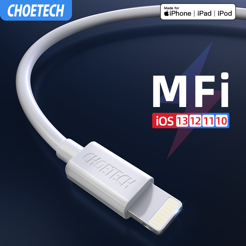 CHOETECH MFi Usb Cable for iPhone 11 Pro Max 2.4A Fast Charging USB Charger Data Cable for iPhone Cable X XR 8 7 6 XS Plus Max