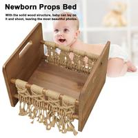 Wooden Baby Bed Photography Bed Props Newborn Photo Studio Crib Props For Photo Shoot Posing Sofa