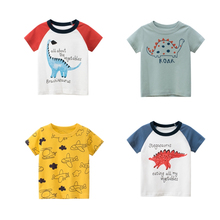 2020 Summer Children Cotton T-shirt  Cartoon Dinosaur Kids' T-shirt  Animal Pattern Cute T-shirts fashionable sochi faulty olympic rings pattern cotton t shirt black xl