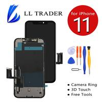 Assembly LCD Screen for iPhone 11 Touch Screen Replacement Digitizer 3D Touch True Tone LCD Full Assembly Parts Free Tools