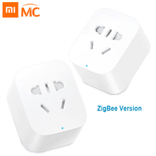 цена на Xiaomi Mijia Original Smart Socket Plug Zigbee Mi Home WiFi Wireless Remote Adaptor Smart Socket Timer With APP Control Outlet