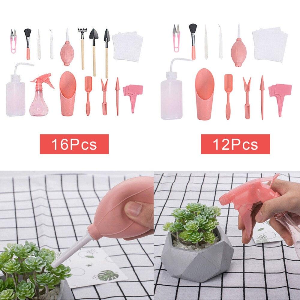 16 шт инструменты для посадки суккулентов садовые ручные ведро