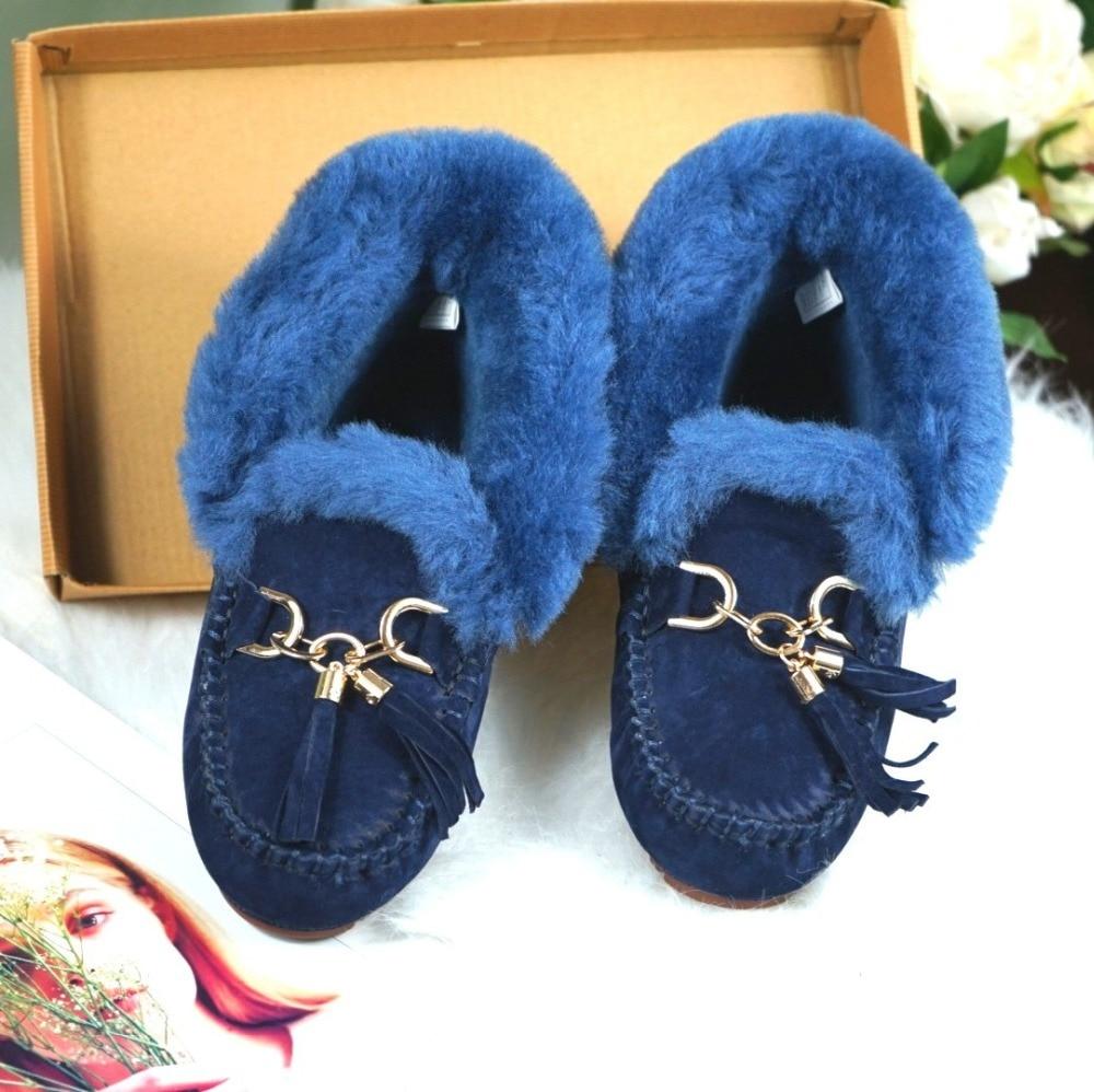 sapatos de inverno casuais mulher botas de neve de couro