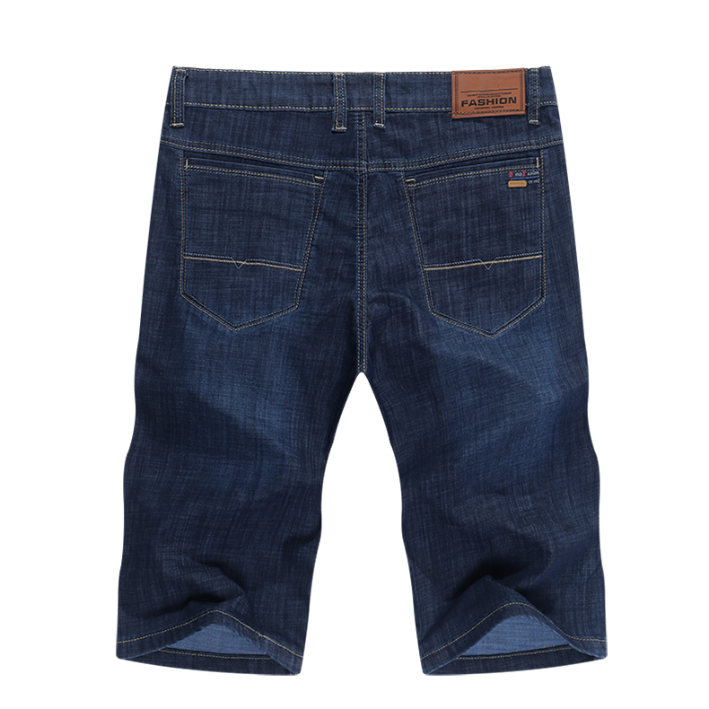 KSTUN Jeans Men Shorts Dark Blue Ultrathin Stretch Business Casual Straight Regular Fit Male Denim Short Pants Mens Shorts Homme 12