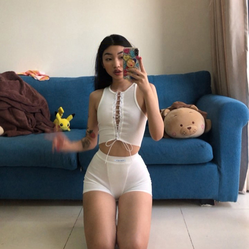 Summer Casual White Female Shorts Knitted Shorts Active Athleisure Sportswear High Waist Yogaings Capris Women Short Pants