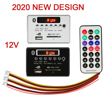 2020 New Bluetooth 5.0 MP3 Player decoder board plays lossless Audio with FM USB SD card folder wood audio panel wireless Module image