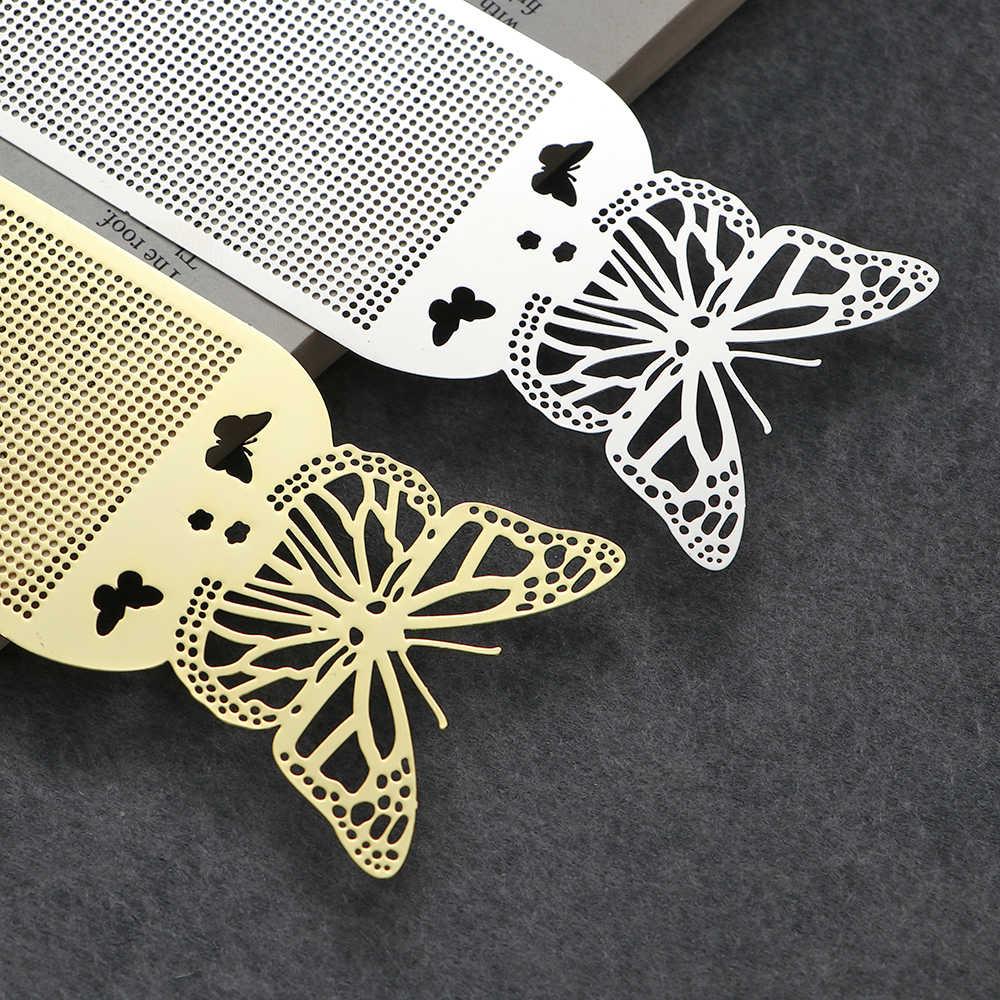 1pc ผีเสื้อนกฮูก DIY Craft Stich Stitch Bookmark โลหะเงิน Golden เย็บปักถักร้อยงานฝีมือนับเย็บ