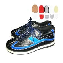 Большой размер 38-46, обувь для боулинга, сменная подошва, мужские кроссовки с нескользящей подошвой, для правой и левой руки, можно носить