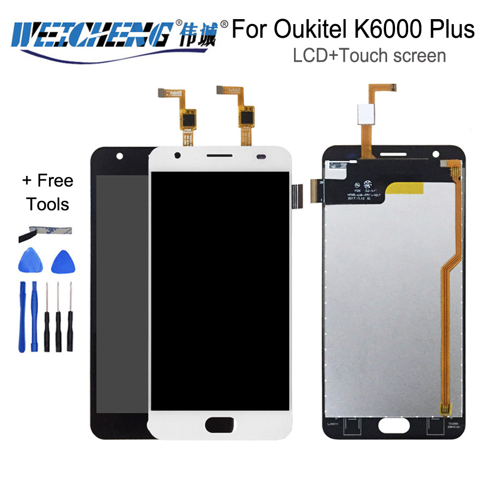 5.5inch For Oukitel K6000 Plus LCD Display And Touch Screen Screen Digitizer Assembly Replacement +Tools+Adhesive