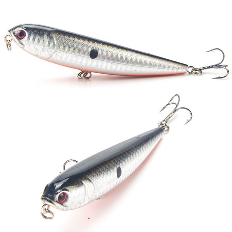 1PCS 12cm 22g Pencil Fishing Lure 4# Top Water Dogs Hard Lures Baits Wobbler Artificial Hard Bait Fishing Tackle Pesca