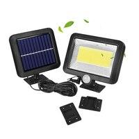 50 Вт Водонепроницаемый PIR настенный светильник 100 LED наружная Солнечная энергия датчик движения садовый прожектор уличное освещение новый ...