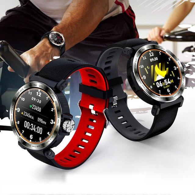 SENBONO S18 spor IP68 su geçirmez akıllı saat ekran dokunmatik erkekler saat nabız monitörü Smartwatch spor izci bilezik