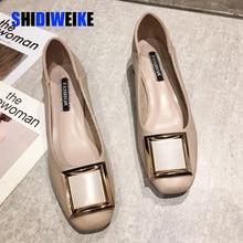 Women Flats Shoes Low Wooden Low Heel Ba