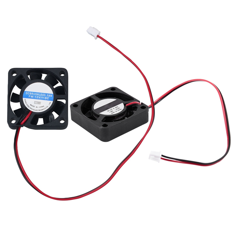 DC 12V 0.1A 2 Pin PC Case CPU Cooler Cooling Fan 40mm X 40mm X 10mm & 4010 9 Blade Brushless DC 12V Cooling Fan