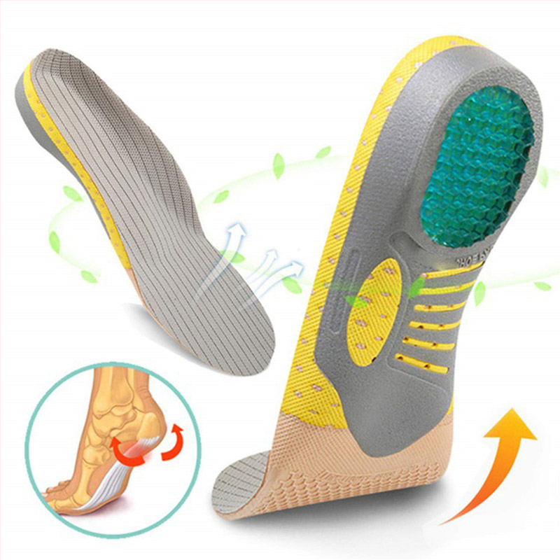 Orthotic Insole Arch Support PVC Flat Foot Health Shoe Sole Pad Insoles For Shoes Insert Padded Orthopedic Insoles For Feet