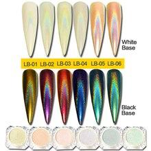 Хамелеон для ногтей 0,5 г, блестящий зеркальный эффект для ногтей, хромированный пигмент с голографическим эффектом, пудра для ногтей, маникюрные украшения, BELB01 06