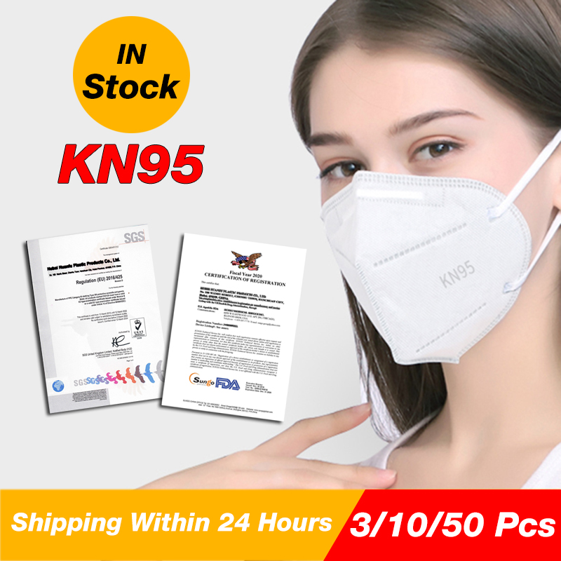 3/10/30/50 PCS KN95 Face Masks reused anti virus for surgery used mouth masks 6 layers protection in stock fast delivery 1