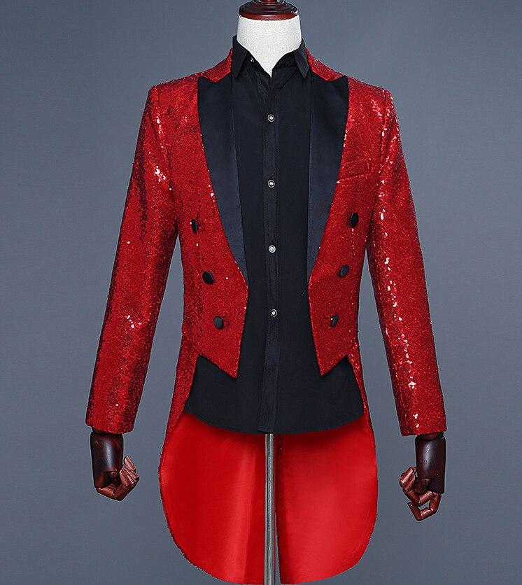 Homem ou argent rouge bleu noir lantejoulas mince coupe cabides vestido de noiva traje