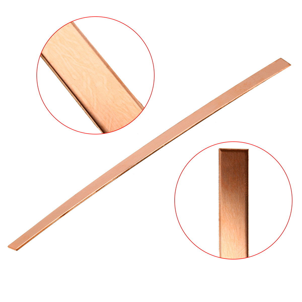 1Pcs 10mmx250mm 99% High Purity Copper Strip T2 Cu Metal Copper Bar Plate 1.5mm For DIY Home Power Tools