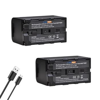 PowerTrust 5200mAh NP-F750 NPF750 NP F750 F730 F770 baterii wyjście USB z wskaźnik zasilania led dla Sony CCD-TRV215 CCD-TR917 tanie i dobre opinie Kamera Standardowa bateria 7 2V Lithium Ion NP-F750 NP-F770 Rechargeable Li-ion Battery Pack NP-F960 NP-F975 NP-F970 or NP-F950