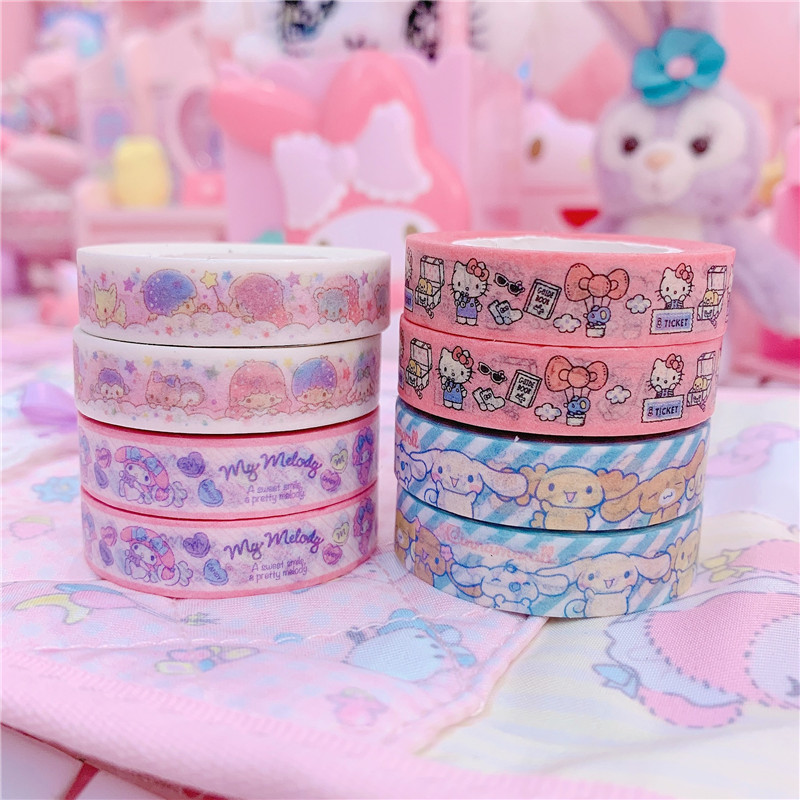 2PC/pack Cute Dog And Cat Washi Tape Set Japanese Paper Planner Masking Tape Adhesive Tapes Stickers Decor Stationery Tape