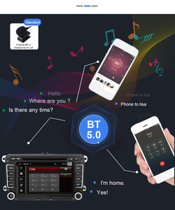 Image 5 - Eunavi Radio Multimedia con GPS para coche, Radio con reproductor DVD, Android, 2 Din, para VW, GOLF 5, 6, Polo, Bora, Jetta, Passat b6, b7, Tiguan, Subwoofer, Autoradio