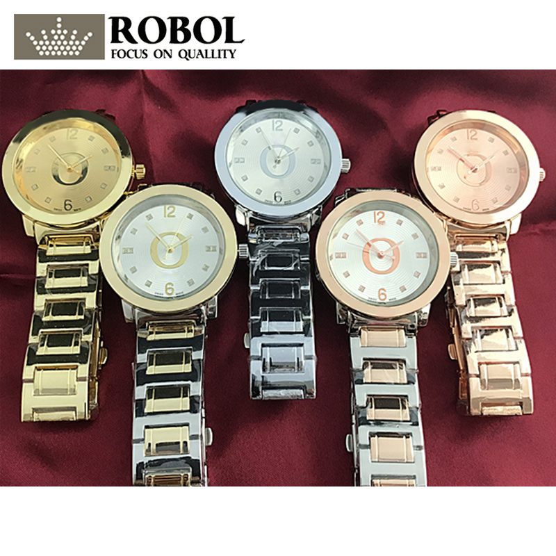 RLLEN Stainless Steel Men Women Couples Quartz Watches Fashion Luxury Jewelry Gift Wedding Noble Elegant Generous Original Copy