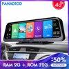 4G Android Dash Cam Dashboard 10 Inch Auto Dvr Voor Auto Achteruitkijkspiegel Wifi Hd Video Recorder Gps Navigatie registrator