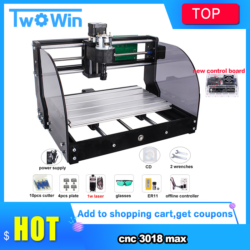CNC 3018 Pro Max Laser Engraver GRBL 3Axis Pcb Wood Router Machine DIY Engraving Machine For Mini Engraver,can Work With Offline