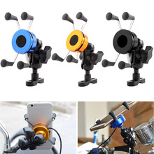 Newly Motorcycle Phone Holder Aluminum Alloy Rotating Mobile Rearview Mirror Mount Stand for Bike SD669