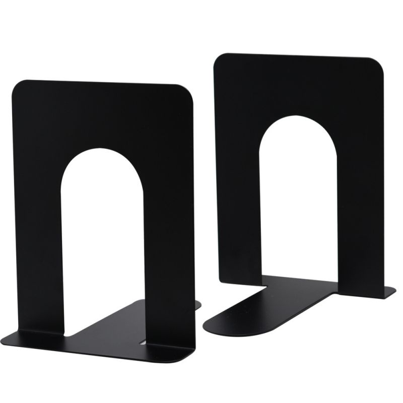 2PCS Metal Bookend Home Office Book Holder School Children Student Nonskid Desk Stand Book Support Black Simple Book Stand New