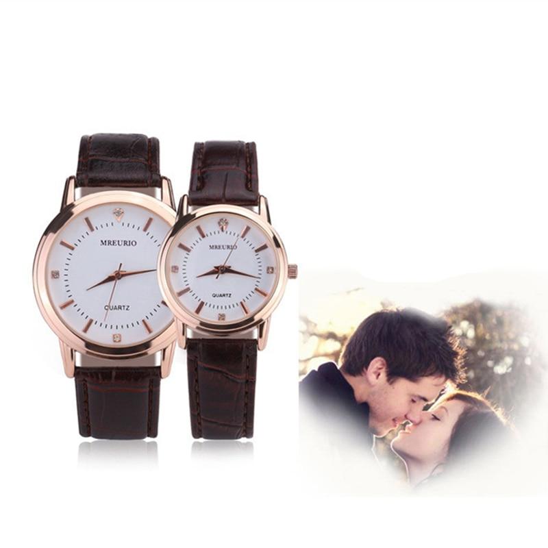 Simple Couple Watch Fashion Rose Gold Quartz Women's Wristwatch Leather Ladies Watch Minimalist Men's Watches Erkek Kol Saati