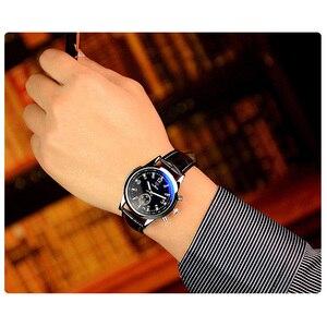 Image 4 - Yazole Quartz hommes montre mâle bracelet en cuir analogique affaires décontracté mince lumineux mains étanche montre bracelet pour hommes montre bracelet