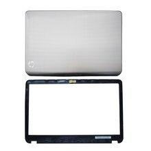 Оригинальная новая задняя крышка для ноутбука HP Envy Pavilion M6/Передняя панель для ЖК-дисплея 728670-001 686895-001, серебристо-черная
