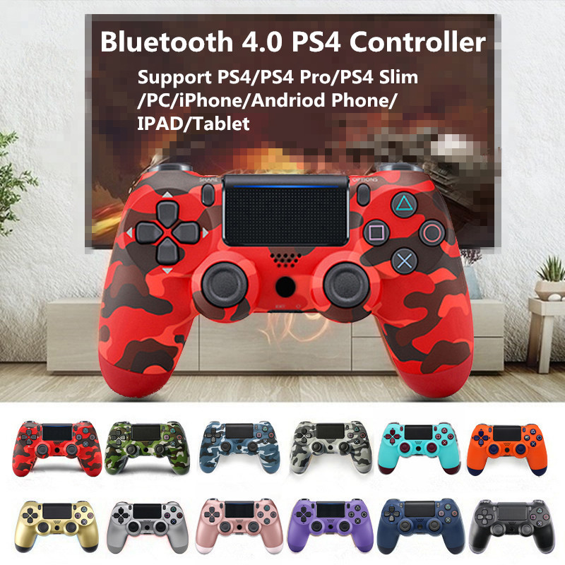PS4 Gamepad Wireless Bluetooth Joypad 6-Axis Dual Vibration Game Controller For PS3 PC Laptop Smartphone Call of Duty Joystick