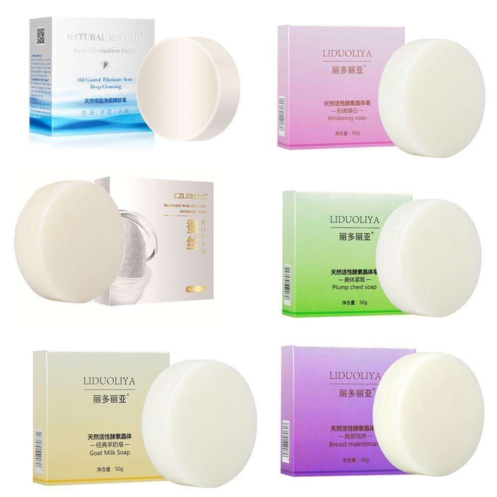 Goat's Milk Soap Whitening Enzyme Soap Rose Revitalizing Soap Tightening Pores Body Face Beauty Care